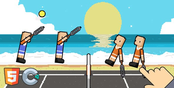 Funny Tennis Physics - HTML5 Game (Capx&c3p)