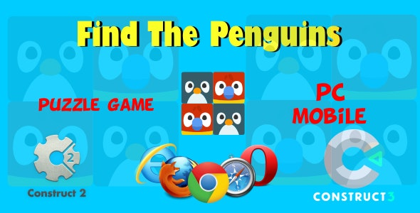 Find The Penguins HTML5 Game (Include CAPX, c3p, Construct 2,3 Source code) - CodeCanyon Item for Sale