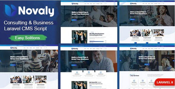 Novaly - Consulting & Business Laravel CMS Script