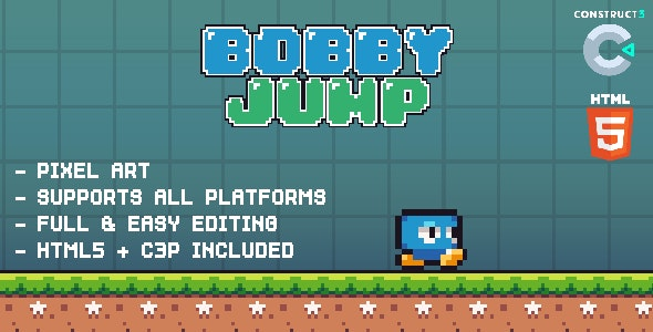 Bobby Jump - HTML5 Game - CodeCanyon Item for Sale