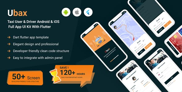 Ubax - Biggest Ride Sharing Flutter Full App UI Kit