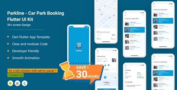 Parkline - Biggest Smart Parking Finder Flutter Full App UI Kit