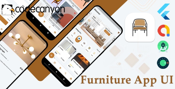 Flutter Furniture app UI template - CodeCanyon Item for Sale