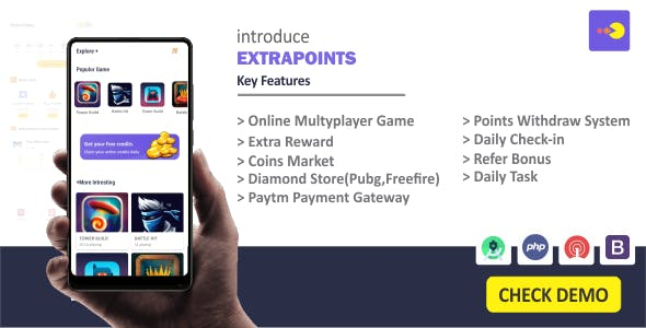 Extrapoints - Online Multyplayer Android App (Earning App)