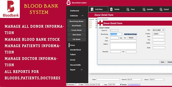 Blood Bank Management Software - CodeCanyon Item for Sale