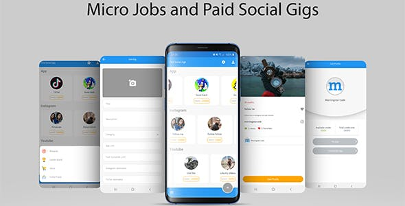 Micro Jobs and Paid Social Gigs with Admin Panel