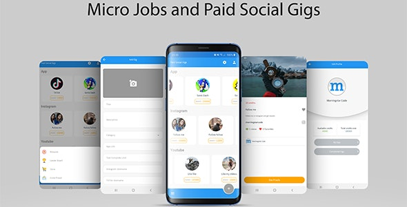 Micro Jobs and Paid Social Gigs with Admin Panel - CodeCanyon Item for Sale