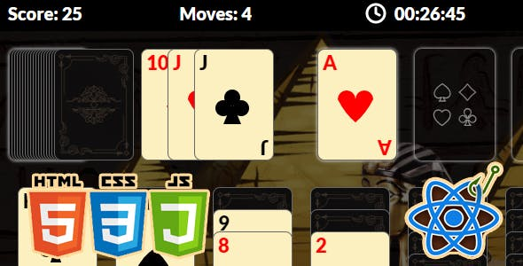 Klondike Solitaire with React Hooks
