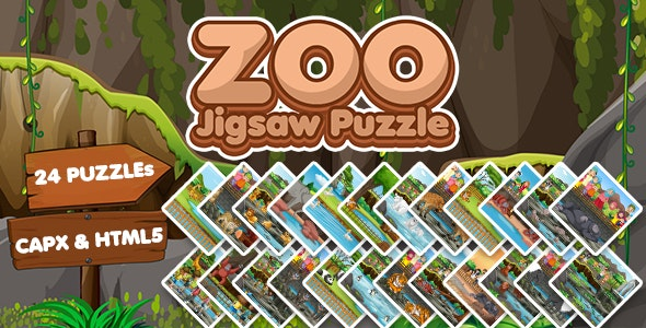 Zoo Jigsaw Puzzle Game (CAPX and HTML5) - CodeCanyon Item for Sale