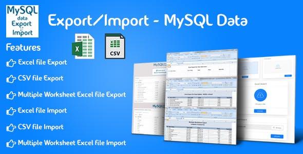 Export/Import - MySQL Data