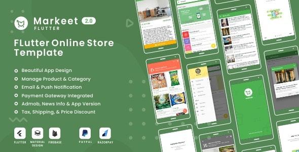 Markeet Flutter - Ecommerce Flutter App 2.0 - CodeCanyon Item for Sale