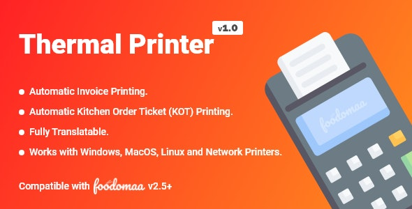 Thermal Printer Module for Foodomaa - CodeCanyon Item for Sale