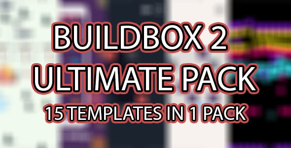 Buildbox 2 Ultimate Pack - 15 templates in 1 Pack