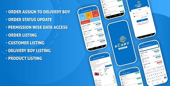 eCart - Ecommerce Admin / Store Manager app