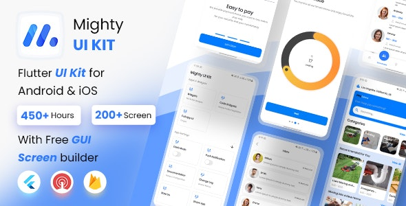 MightyUIKit - Flutter UI Kit with Screen Builder - CodeCanyon Item for Sale