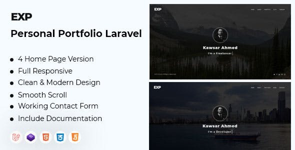 EXP - Personal Portfolio Laravel