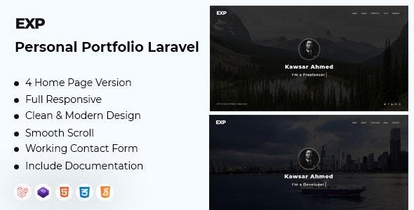EXP - Personal Portfolio Laravel - CodeCanyon Item for Sale