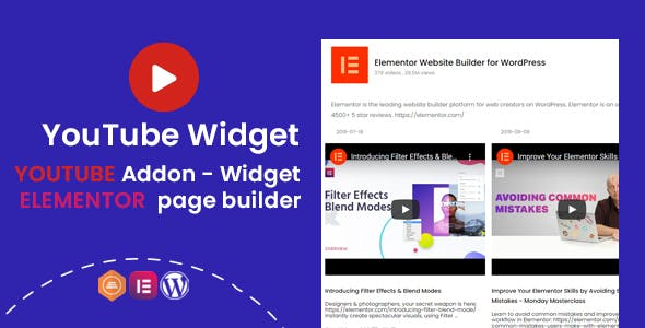 YouTube Widgets - Addon for elementor page builder