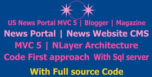 US News Portal MVC 5   Blogger   Magazine   News Portal   News Website CMS   MVC 5 News Website