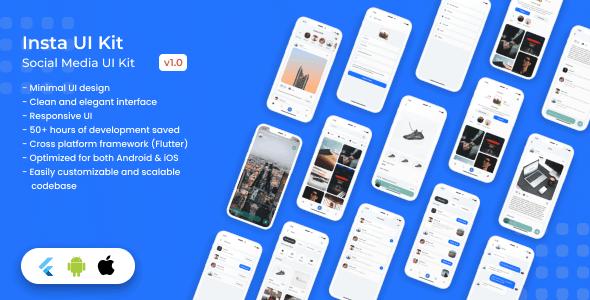 Insta UI - Flutter UI Kit - CodeCanyon Item for Sale