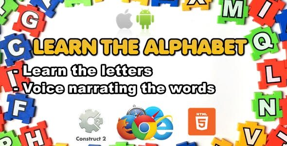Learn The Alphabet for Kids - Educational Game - HTML5 (.Capx)