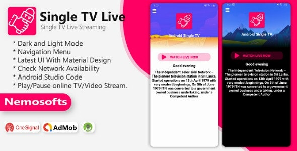 Android TV Channel – Single TV Live Streaming App  1 February 2021