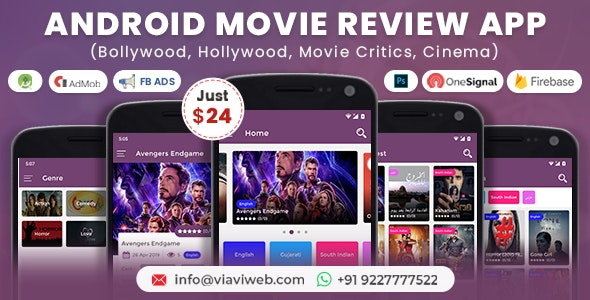 Android Movie Review App (Bollywood, Hollywood, Movie Critics, Cinema) - CodeCanyon Item for Sale