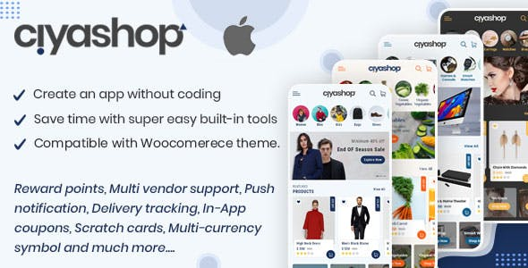 CiyaShop Native iOS Application based on WooCommerce