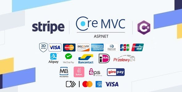 Stripe Checkout in ASP.NET Core MVC Web Application built with C# and JavaScript