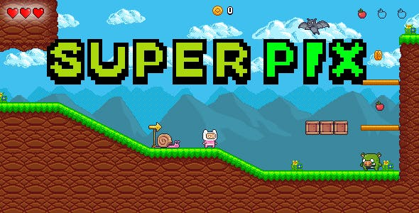 Super Pix - HTML 5 - Construct 3 Platform Game