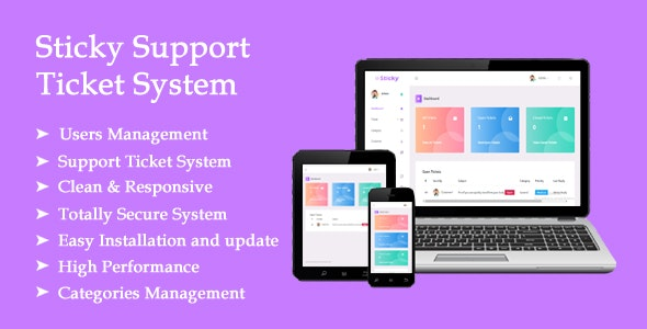 Sticky Support Ticket System In MVC 5 - CodeCanyon Item for Sale