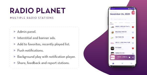 Radio Planet Pro With Admin Panel