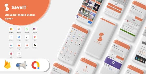 SaveIt - Fb, Insta, Whatsapp Story Saver, Josh, Mitron, Moj, MxTakaTak and more Video Saver App - CodeCanyon Item for Sale
