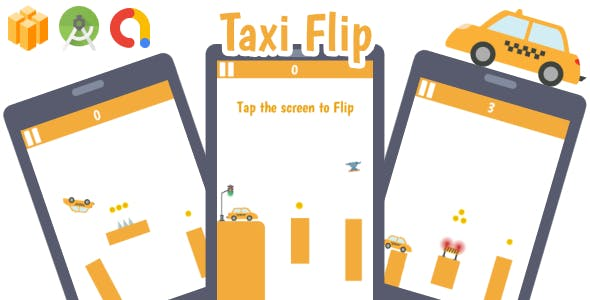 Taxi Flip Android Game with AdMob