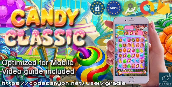 Candy Classic (Admob + GDPR + Android Studio)