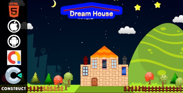 Dream House - Kids Educational Construct 3 HTML5 Game for Android and iOS with Admob