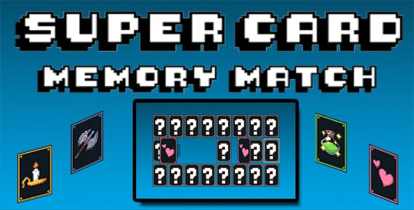 Super Card Memory Match - HTML5 PC Game