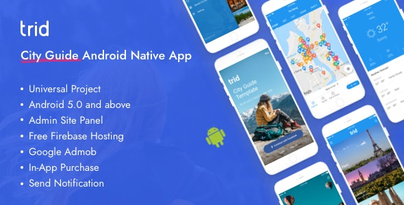 Trid - City Travel Guide Android Native with Admin Panel, Firebase - CodeCanyon Item for Sale