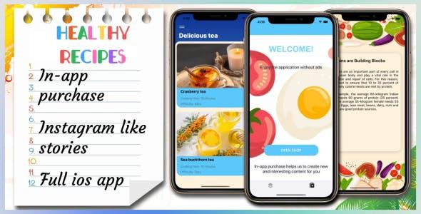 Healthy Recipes —Full iOS Application
