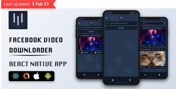 Facebook Video Downloader - React Native App