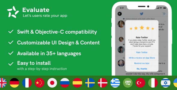 Evaluate - Rate & Review Add-on for iOS