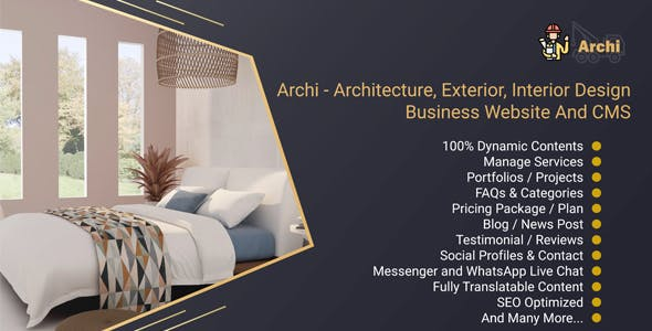 Archi - Architecture, Exterior, Interior Design Business Website And CMS