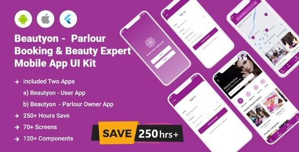 Beautyon - Beauty Parlour Booking Flutter Full App UI Kit
