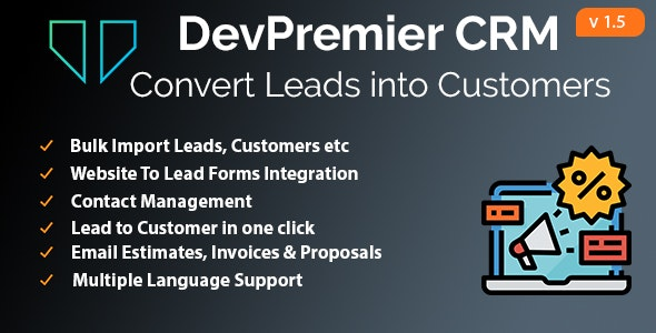 DevPremier CRM - Convert Leads into Customers - CodeCanyon Item for Sale