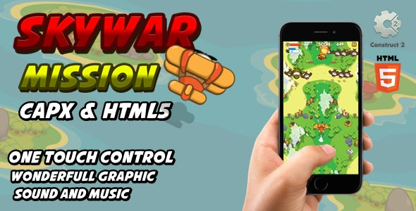 Skywar Mission - Html5 Game - CodeCanyon Item for Sale