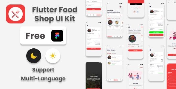 Flutter Food Shop UI Kit - CodeCanyon Item for Sale