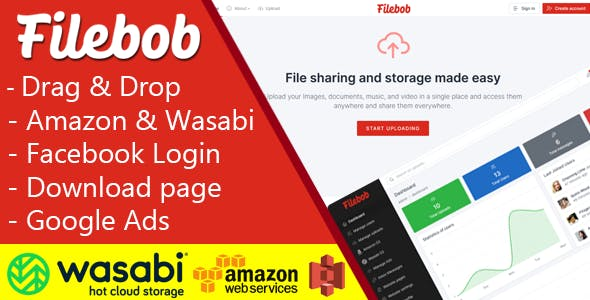 Filebob - File Sharing And Storage Platform