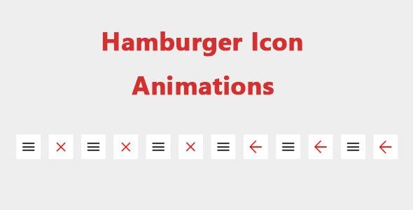 Hamburger Icon Animations - CodeCanyon Item for Sale
