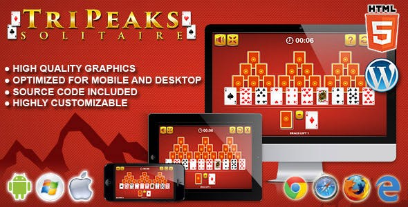 Tripeaks Solitaire - HTML5 Solitaire Game