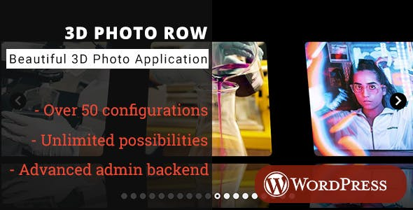 3D Photo Row - WordPress Media Plugin